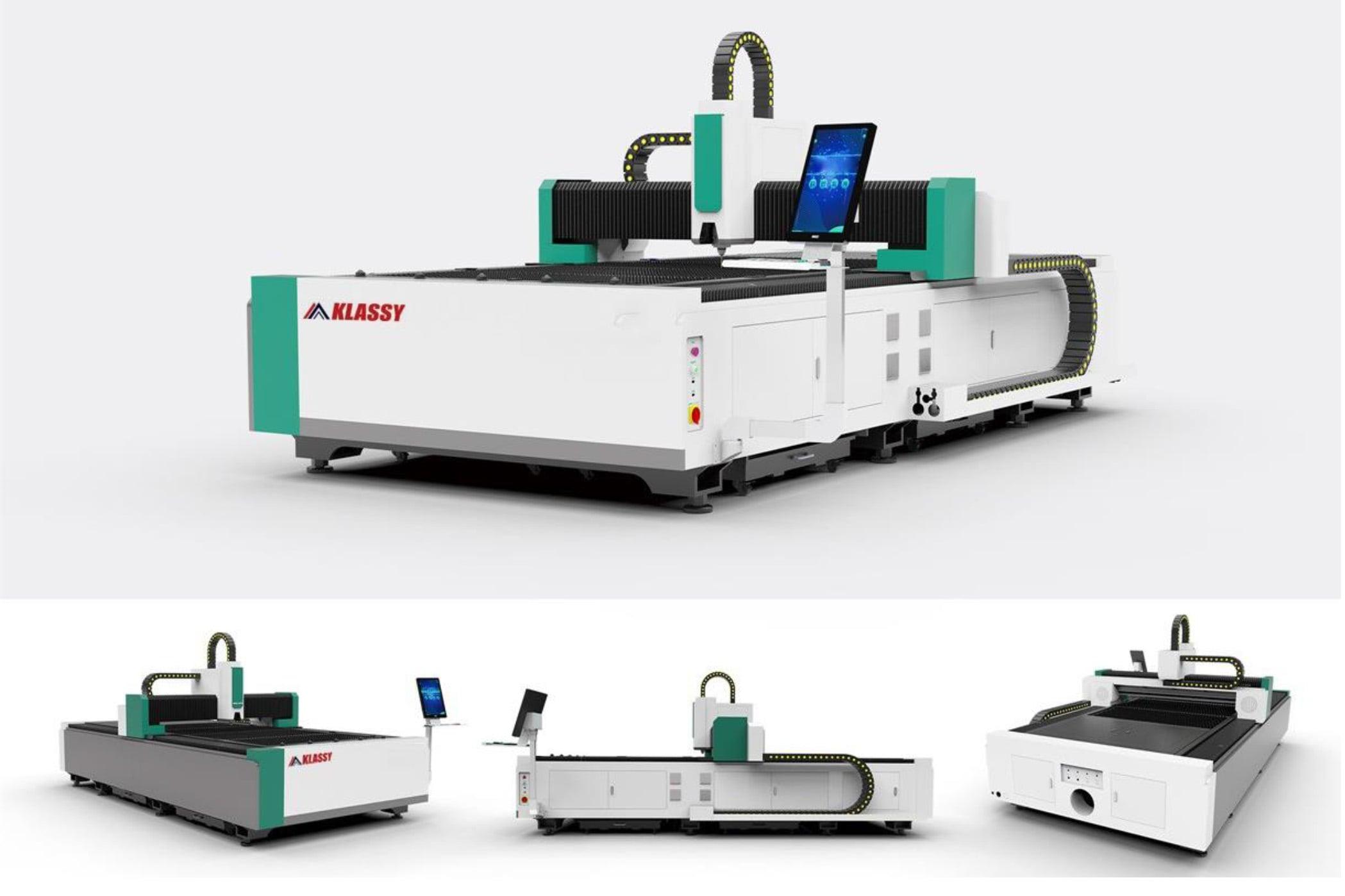 Máy Cắt Laser Cnc Bàn đơn Khung đúc